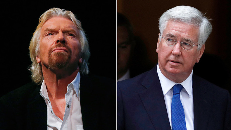 Richard Branson nearly lost £4mn to con-artist posing as Defense Secretary Michael Fallon