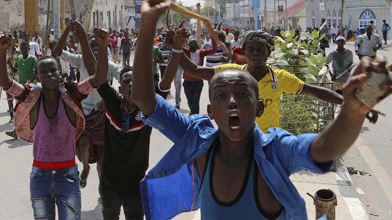 Mass protest rocks Mogadishu after Somalia's deadliest terror attack