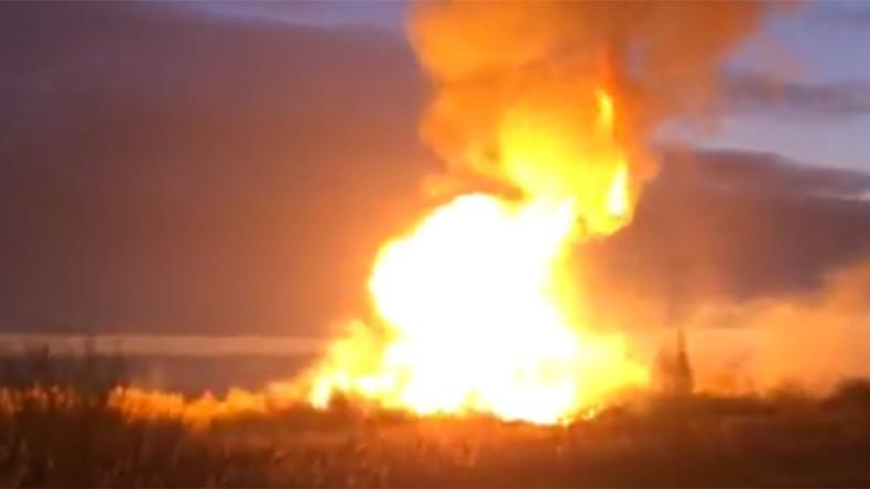 Gas pipeline blaze rocks Moscow region (VIDEOS)  %Post Title