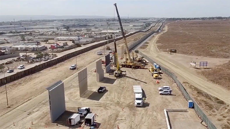 Trump border wall prototypes go up in California (VIDEO)