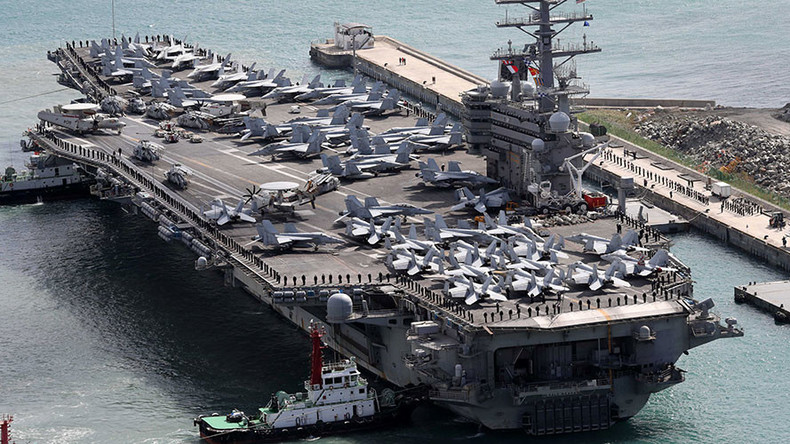 USS Ronald Reagan docks in South Korean port after large-scale drills