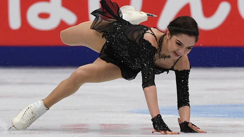 Russian skater Medvedeva laughs off fall before winning Grand-Prix season opener