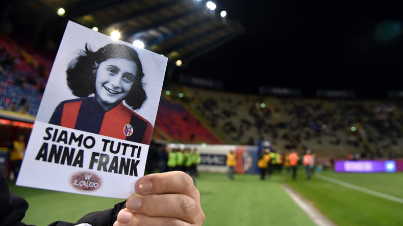 'I don't give a damn' - Italian fans sing fascist chant during Anne Frank diary readings