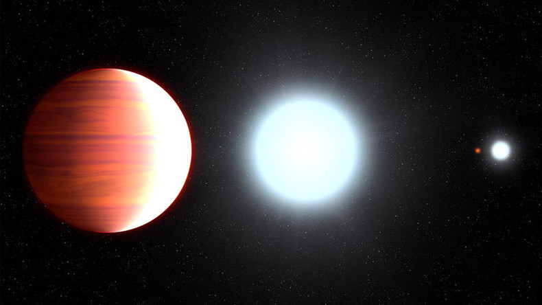 'Sunscreen' snowfall observed on fiery hot exoplanet (PHOTO)