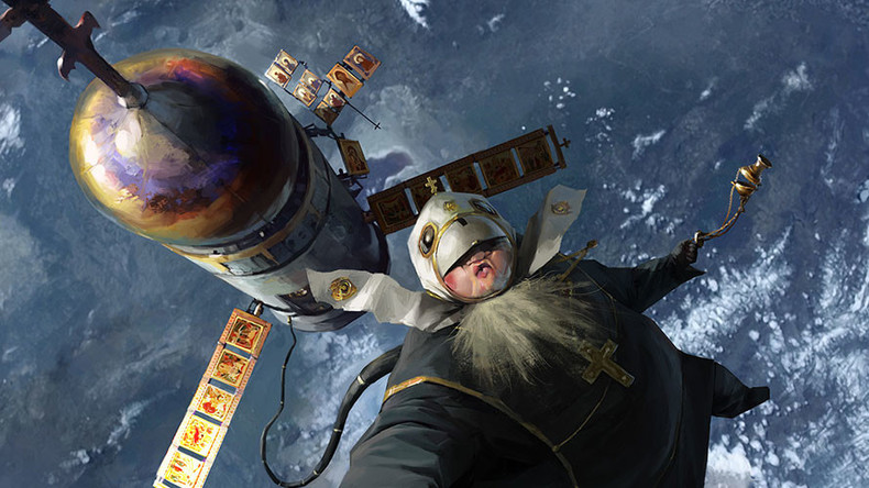 To heaven and beyond: Artist depicts bizarre Russian Orthodox space mission (IMAGES)
