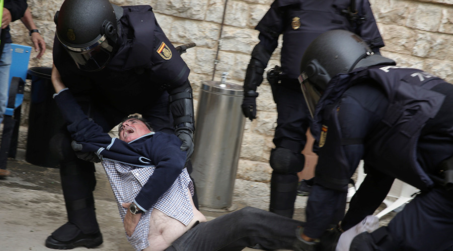 Spanish FM says police actions in Catalonia 'proportionate,' injury toll passes 840