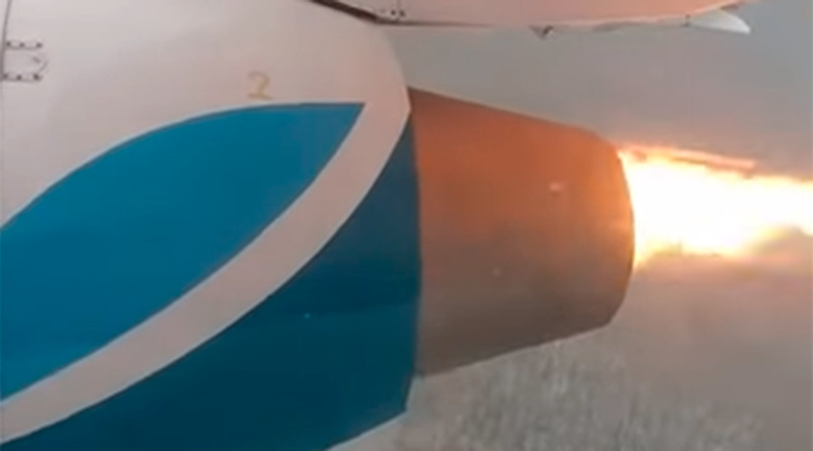 'I thought I was an atheist, until…': Engine on Russian flight bursts into flames (VIDEO)