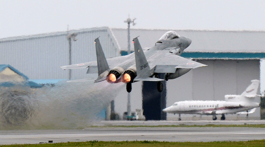 Japanese F-15 jet loses part of missile during emergency take-off