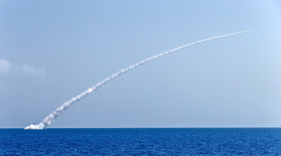 Russian subs hit terrorist targets with 'Kalibr' cruise missiles in Syria (VIDEO)