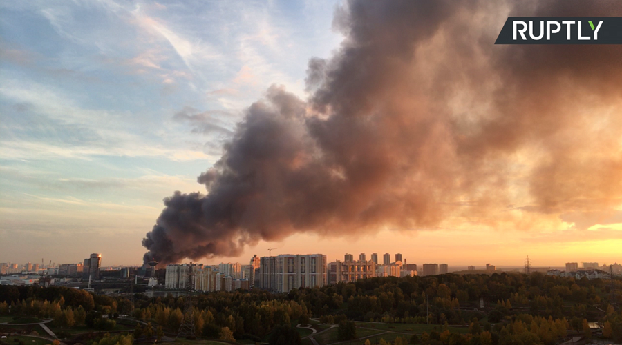 Moscow Shopping Center On Fire, About 3000 People Evacuated