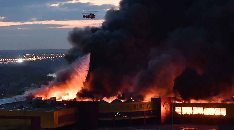 3,000 people evacuated, helicopters deployed as market outside Moscow erupts in flames (VIDEOS)