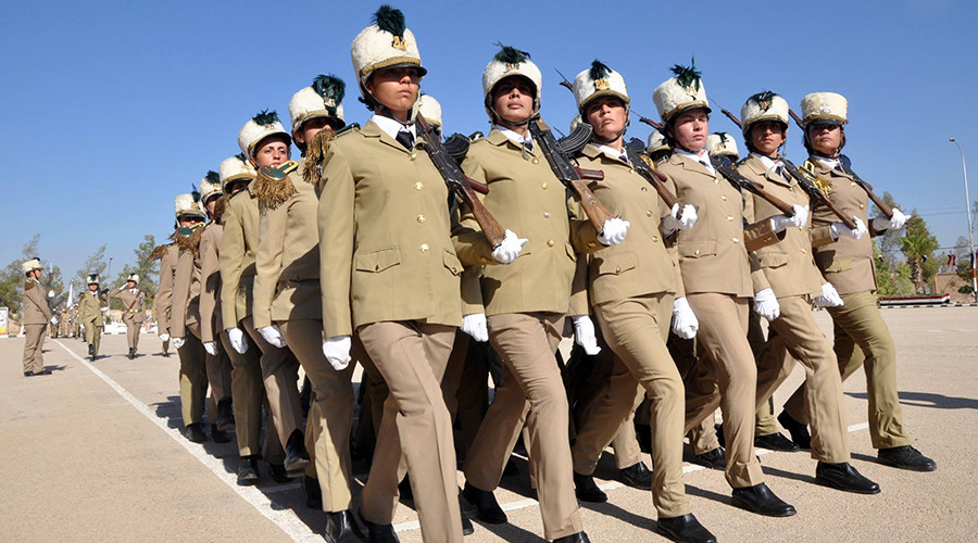 On guard: New batch of female students graduates from Syria's military college (VIDEO)
