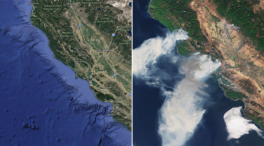 Satellite images show devastating extent of California wildfires (PHOTOS)