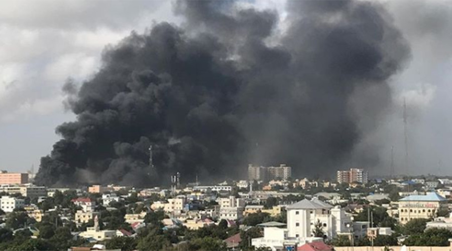 At least 6 killed as huge blast rocks Somali capital