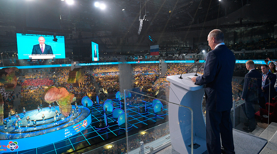 Afbeeldingsresultaat voor 19th world youth festival sochi opening by putin