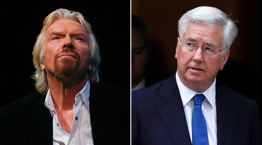 Richard Branson nearly lost £4mn to con-artist posing as Defense Secretary Michael Fallon
