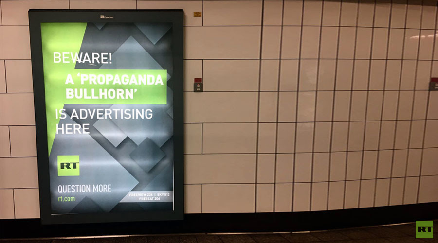 The worst of Times: Establishment paper keeps up attack on RT over London tube ads