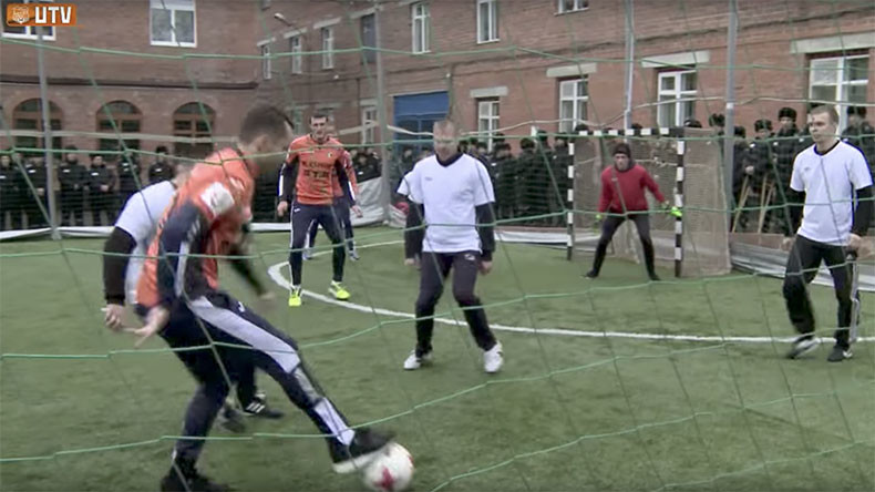 From Premier League to prison: Russian footballers play jail match with inmates