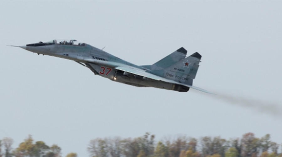 Mig-29 jets price sky in joint Russian-Serbian drills (VIDEO)