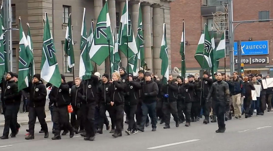Nordic neo-Nazi group & antifascists face off in Finland (PHOTOS, VIDEOS)
