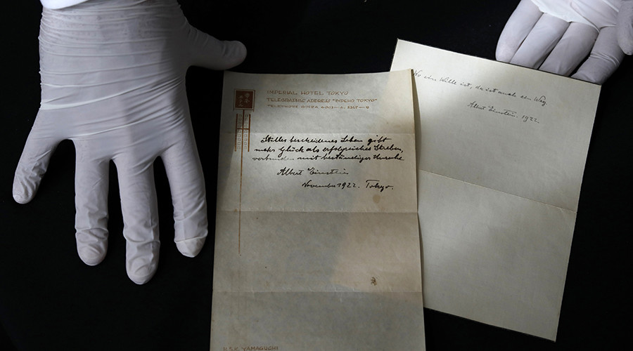 Einstein's other theory (about happiness) to be sold at auction