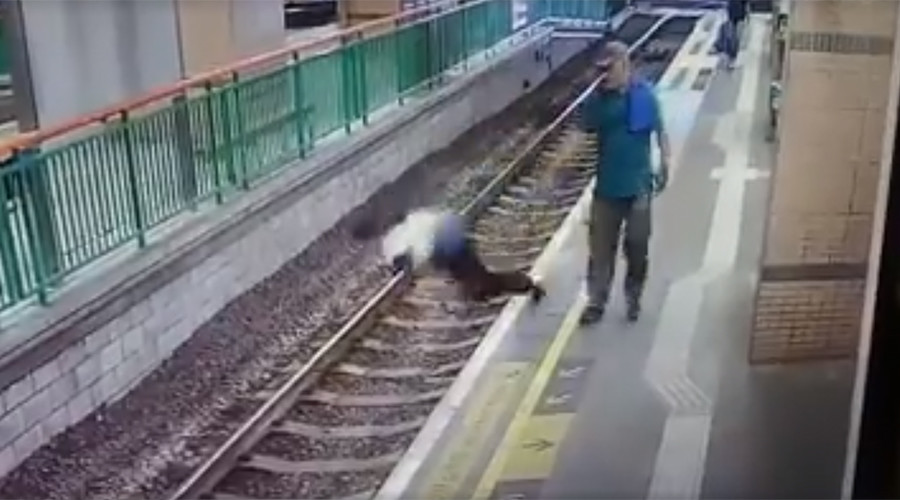 Chilling CCTV VIDEO captures man pushing woman on rail track in cold blood