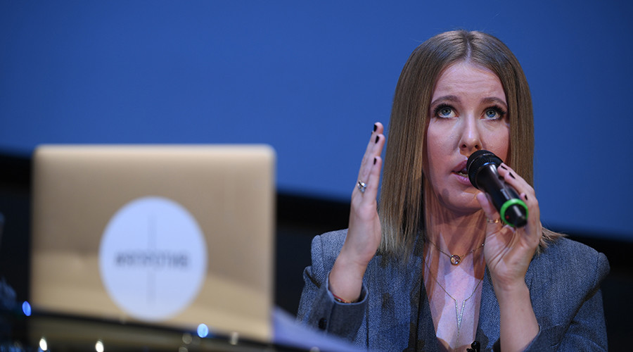 Socialite Ksenia Sobchak submits bid for Russian presidential race