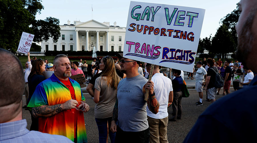 Court blocks Trump's transgender troop ban citing tweet