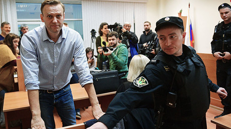 Moscow court orders 20-day detention for Navalny for organizing several unsanctioned rallies