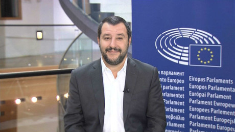 Matteo Salvini, leader of the Lega Nord party
