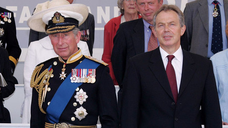 FILE PHOTO: The Prince of Wales and former Prime minister Tony Blair. © AFP