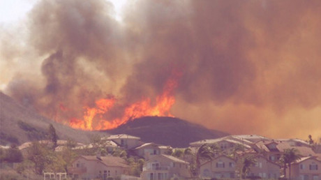 Brushfire spreading in S. California prompts evacuations