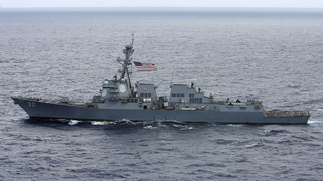 FILE PHOTO: USS Chafee destroyer © Hugh Gentry
