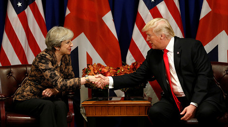 US President Donald Trump and British Prime Minister Theresa May © Reuters