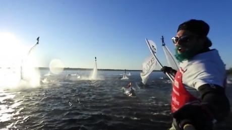 Flyboarding 360: Group performance sets Russian record