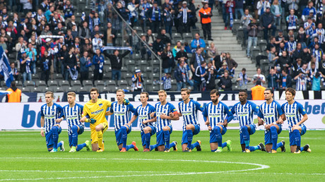 Hertha Berlin footballers kneel for 'tolerance' in solidarity with US protests