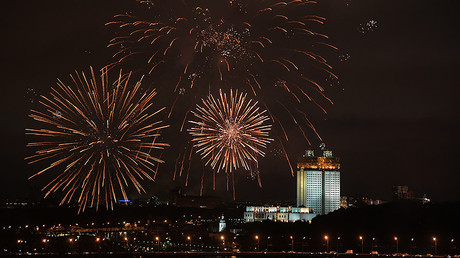 Fireworks light up Moscow skies ahead of World Festival of Youth & Students