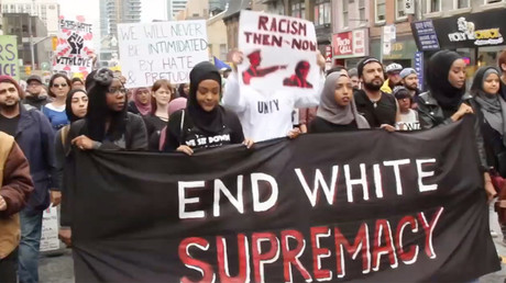 Toronto rights activists rally against white supremacy