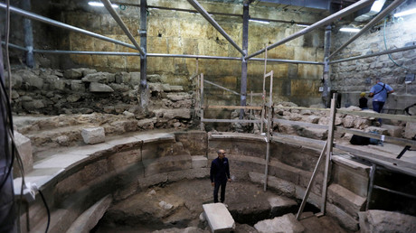 Sections of Western Wall, Roman theater unseen for 1,700yrs uncovered in Jerusalem (PHOTOS)