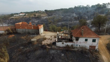 Drone footage shows devastation in Portugal after wildfires