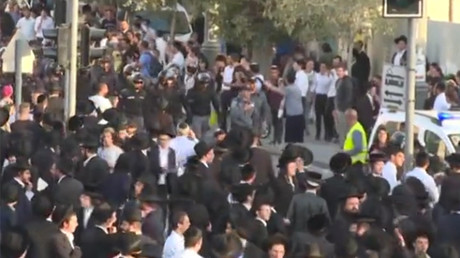 Ultra-Orthodox Jews block streets in Jerusalem in protest over draft law