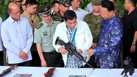 Philippines President Rodrigo Duterte © Romeo Ranoco