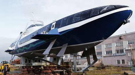 Russia floats brand new hydrofoil passenger ship after two-decade pause