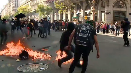 Violence at protest calling for justice for missing detainee in Argentina