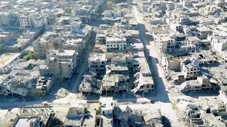Drone footage of ruined Raqqa after liberation from ISIS