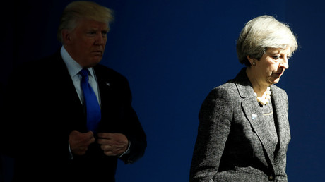US President Donald Trump (L) and Britain's Prime Minister Theresa May © Jonathan Ernst