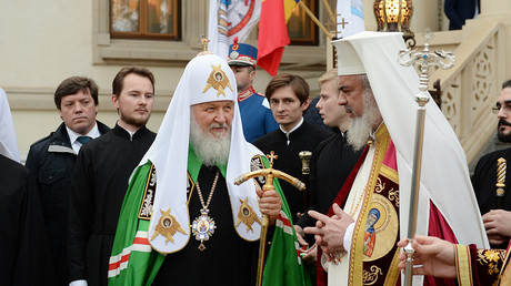 The head of the Russian Orthodox Church, Patriarch Kirill, and his Romainian couterpart Patriarch Daniel © patriarchia.ru