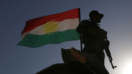 An Iraqi Kurdish Peshmerga fighter. © Safin Hamed