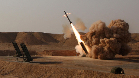 FILE PHOTO: Ballistic missile Zelzal is launched during the second day of military exercises, codenamed Great Prophet-6, for Iran's elite Revolutionary Guards at an undisclosed location  ©  Mohammaf Hasanzadeh / Fars News