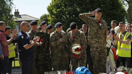 Lee Rigby was killed outside Woolwich barracks © Reuters/ Olivia Harris